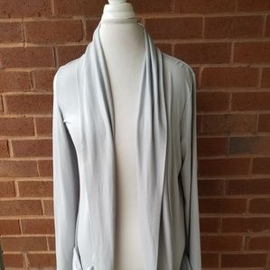 Yvos Jackets & Coats - Silver knit evening jacket w. Ruched pockets M